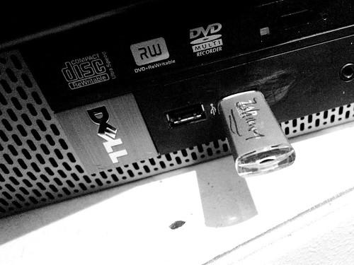 Min USB-pinne på jobbet
