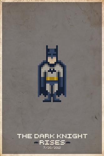 The Dark Knight Rises Pixel Poster