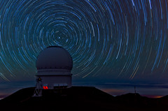 Mauna Kea Star Trails - [EXPLORED] (andreaskoeberl) Tags: mountain night dark stars hawaii nikon long exposure tripod observatory telescope stitched