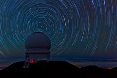 Mauna Kea Star Trails - [EXPLORED] (andreaskoeberl) Tags: mountain night dark stars hawaii nikon long exposure tripod observatory telescope stitched maunakea startrails starrynight 1685 d7000 nikon1685 nikond7000 andreaskoeberl