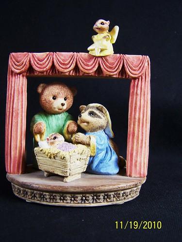 Hallmark Christmas Figure Figurine Holiday Bear Fox Racoon