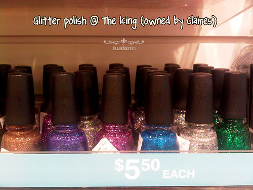 Gorgeous glitter polishes @ the Icing at the mall!