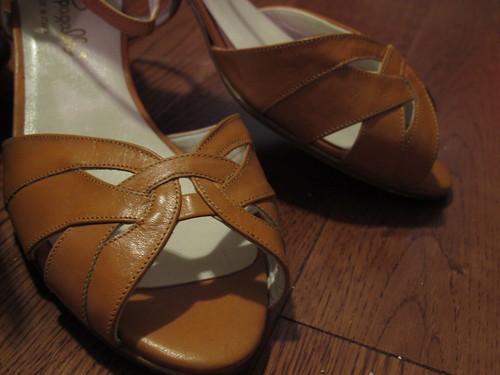 Vintage Butterscotch Pappagallo NOS Sandals