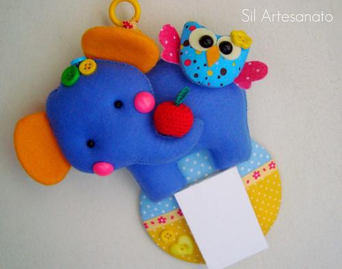 """Porta Recados """"Fantinho Blue e a Corujinha Zoiudinha"""""""" by Sil Artesanato"""