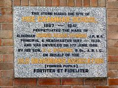 Photo of Mary Coke stone plaque