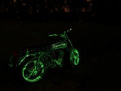Green Gold Rider (emiliokuffer) Tags: green motorbike moto laser motocicleta