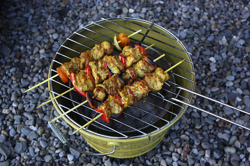 Sosaties on the braai, by MacDara on Flickr.