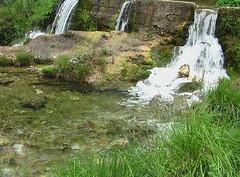 il fiume con le scale (the sky lit up) Tags: espaa water spain agua eau acqua spagna