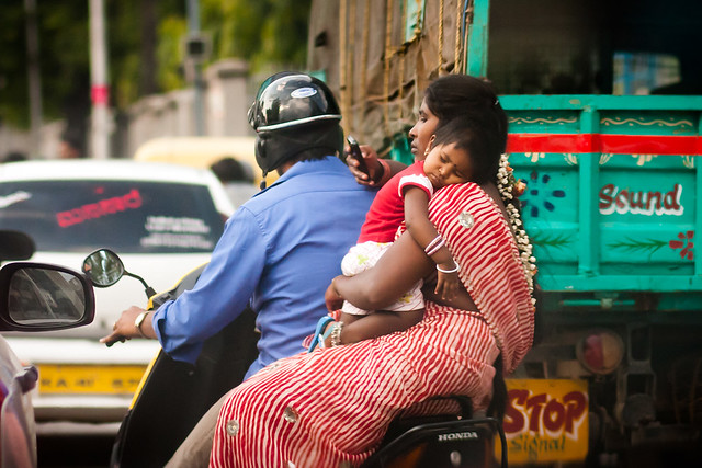 Scooter riders in Bangalore