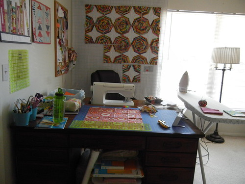 My new-and-improved sewing space