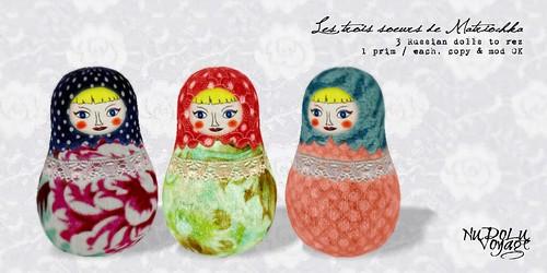 Les trois soeurs de Matriochka AD