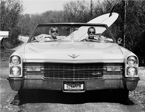 Michael Dweck, Dave and Pam in Their Caddy, Montauk, NY, 2002