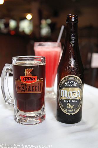 Moza (our favorite Central American beer so far) and watermelon juice