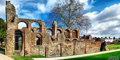 St. Botolph's Priory panorama (2) (dogmarten28) Tags: english heritage church baker ruin monastery repair maintenance essex danbury colchester priory eastanglia augustinian stjulian stbotolph dogmarten28