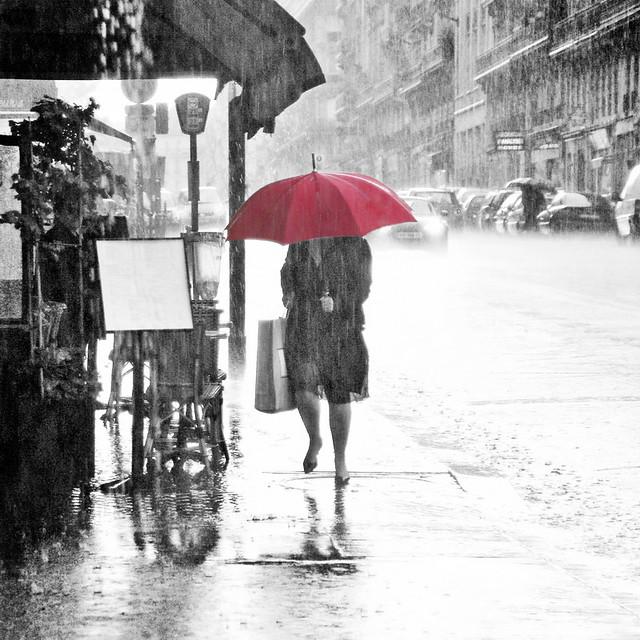 Parapluie allumé