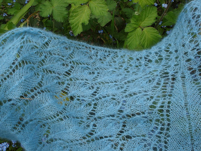 Kidsilk mohair silk lace shawl Crane Wife Decemberists Doctors Without Borders Japan benefit