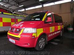 Dublin Fire Brigade / 08 D 44813 / VW Transporter / Medical Van (Nick 999) Tags: dublin bus vw fire d mini transporter 08 brigade 44813