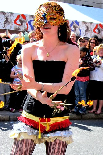 Fire Eater at the street fair