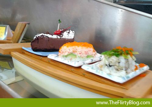 sushi-boat-chocolate-cake-dessert