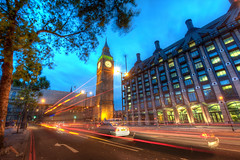 Big Ben at Dusk (Stuck in Customs) Tags: world street city uk greatbritain travel light england urban blur green london tower history cars clock westminster architecture digital speed island photography blog high europe traffic dynamic sundown stuck bell unitedkingdom britain dusk capital great continental bigben icon palace historic belltower september clocktower photoblog software empire processing imaging neogothic streaks range metropolitan hdr tutorial trey travelblog customs 2010 chiming ratcliff hdrtutorial stuckincustoms treyratcliff photographyblog stuckincustomscom nikond3x
