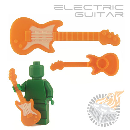 Electric Guitar - Orange (white pickguard print)