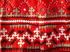 kutchwork on red blouse-closeup border (jizee66even this will pass away) Tags: embroidery border owndesign sareeblouse kutchwork