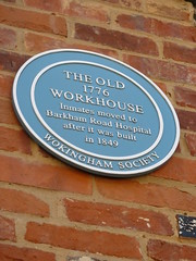 Photo of Wokingham Workhouse blue plaque