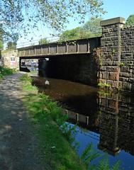 Railway bridge (jrw080578) Tags: bridge trees reflections canal yorkshire huddersfieldnarrowcanal