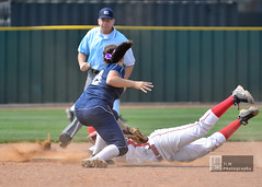 Aggressive Baserunning (chemisti) Tags: sports nikon texas competition slide highschool catch slap softball athlete collin score fastpitch throw bunt d300 mbhs mckinneyboyd capturenx2 mckinneyboydsoftball corelpaintshopprox3