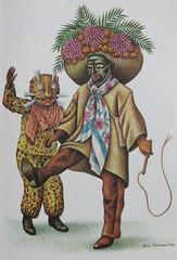 Guerrero Dancers Santa Cruz (Teyacapan) Tags: costumes santacruz painting mexico dancers fiestas mexican tigres jaguars danzantes guerrero covarrubias nahua zitlala tecuanes tlacololeros