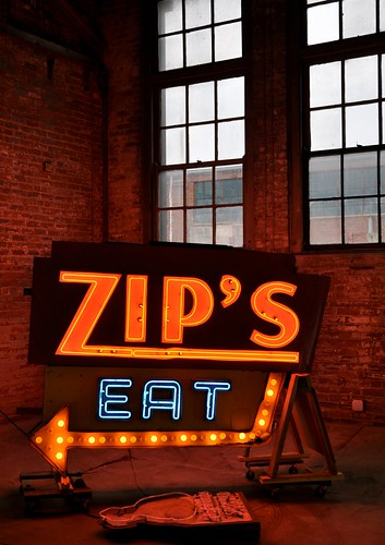 Zip's Diner Eat Sign Neon