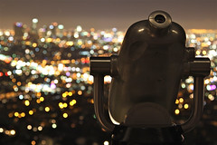 I Can See the Light (AJ Brustein) Tags: california park ca city usa blur skyline america canon out aj lights la los focus cityscape dof view zoom angeles bokeh machine binoculars observatory telescope national hollywood spy hi griffith viewing brustein 50d