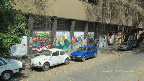 Cars and street art in Cairo Egypt
