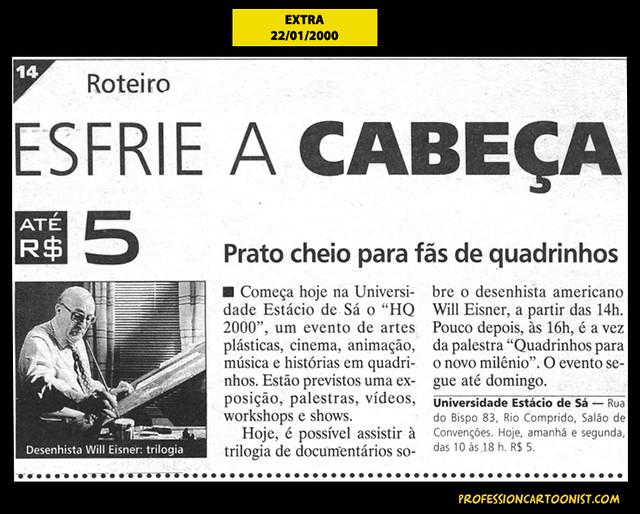 """""""Prato cheio para fãs de quadrinhos"""" - Extra - 22/01/2000"""