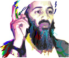 'OSAMA' in Pop-art Sketch