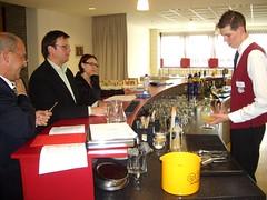 Florian Dreier bei der Prüfung zum Jungbarkeeper