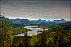 Loch Garry (Martin Steele.) Tags: bridge trees sky mountains nature water beauty clouds canon landscape scotland amazing colours view natural vibrant clarity sigma peaceful hills views stunning excellent miles wilderness inspirational awe lochs outstanding lochgarry 1770mm 450d