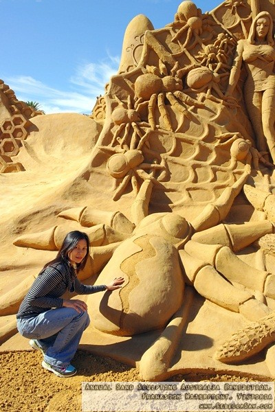 Annual Sand Sculpting Australia exhibition, Frankston waterfront-17
