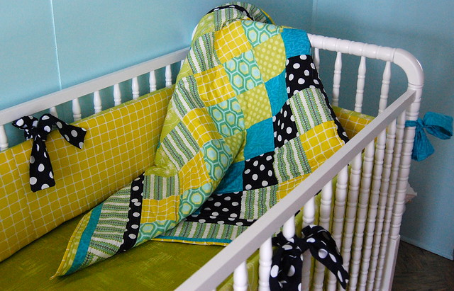 Citron Surprise Custom Crib Bedding Set