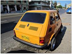 Fiat 126 (Stella Blu) Tags: street stella cars car yellow vintage blu havana cuba transportation vehicle caribbean westindies fiat126 canonsx200 pregamewinner