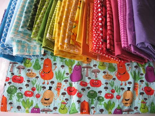 Veggie Rainbow Fabrics
