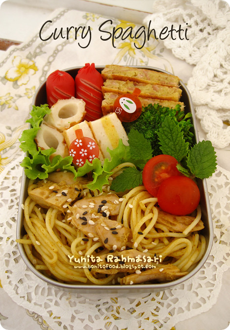 Curry Spaghetti Bento
