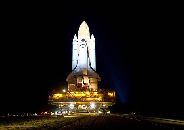 Atlantis STS-135 Rollout (201105310024HQ)
