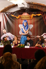 STIF press conf. (dumitru dragos) Tags: blue bw cute nature girl car festival nude concert theatre god event romania mustang ram cultural fits sibiu transilvanya jummer hemy teatru