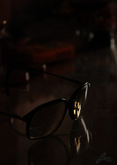 one eye not serving... (AbdulAmeer, Fatema) Tags: old glasses 2011 fja nikond80