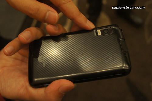 The back of Motorola Atrix.