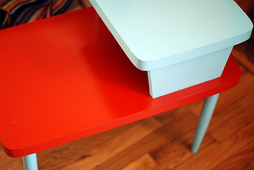 spray painted side table!