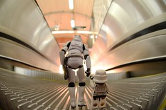 We are going towards the light (Kalexanderson) Tags: life stilllife toys starwars lego pair son troopers plastic stormtrooper fatherandson movingstaircase familylife ordinarylife stormtroopersstar spanga warstoysfamily 365daysofstormtroopers stormtrooperandson