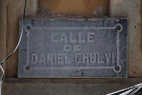 Placas: Calle Daniel Chulvi