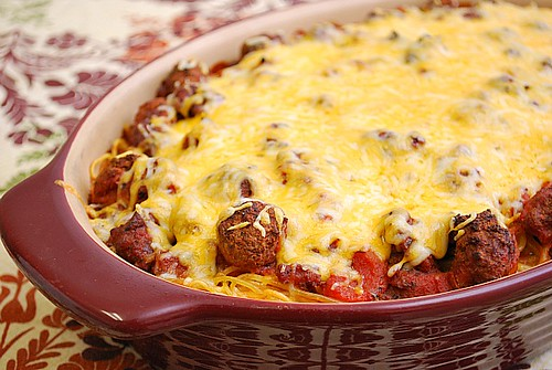 What's Cookin, Chicago: Baked Spaghetti & Meatballs